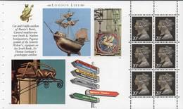 GREAT BRITAIN 1990 London Life Prestige Booklet Pane 1469n - Booklets