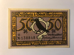 Allemagne Notgeld Merseburg 50 Pfennig - Collections