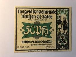 Allemagne Notgeld Mulsen 50 Pfennig - Collections