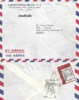 "Airmail Brief  ""Laboratorios Arlena SA, Lima"" - Zürich            1972 - Peru"