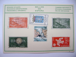 Sellos De España - Timbres Espagnols - Spanish Stamps On Postcard  - Unused - Stamps (pictures)