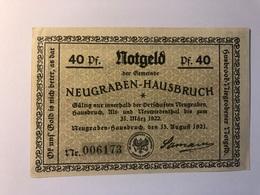 Allemagne Notgeld Neugraben 40 Pfennig - Collections