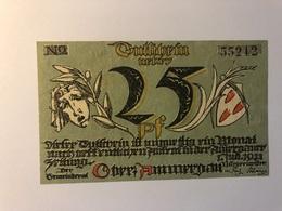 Allemagne Notgeld Oberammergau 25 Pfennig - Collections