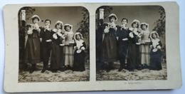 PHOTO STEREOSCOPIC STEREO 19 GENREBILDER FAMILY FASHION 1904. - Stereo-Photographie
