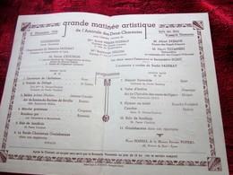 8-12-1935-AMICALE DES DEUX CHARENTES MATINEE ARTISTIQUE ARLESIENNE DE BIZET-SELIKA-MARCHE GRACIEUSE-SOLO HAUBOIS-BARDE- - Programmes