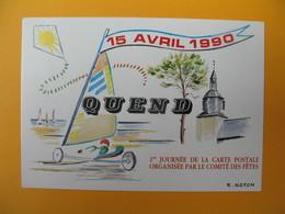 Carte 1 Er Journée De La Carte Postale Organisée Par Le Comité Des Fêtes - Quend Somme - Poste & Facteurs