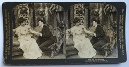 PHOTO STEREOSCOPIC STEREO COUPLE FASHION THE PROPOSAL 1902. - Stereo-Photographie