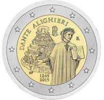 Italy, 2 Euro, 2015, Dante Alighieri - Italia