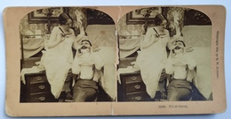 PHOTO STEREOSCOPIC STEREO COUPLE FASHION HUMOR - Stereo-Photographie