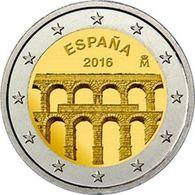 Spain , 2016, Aqueduct Of Segovia, 2 Euro - Spain