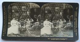 PHOTO STEREOSCOPIC STEREO FRAUEN GIRLS  FASHION 1902. - Stereo-Photographie