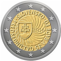 Slovakia, EU Presidency, 2016, 2 Euro - Slovakia
