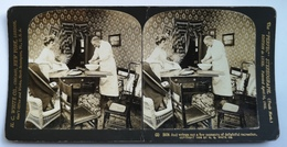 PHOTO STEREOSCOPIC STEREO COUPLE COOKING 1908. - Stereo-Photographie