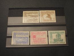 PARAGUAY - 1972 ARTE/TURISMO 5 VALORI(alcune Pieghette) - NUOVI(++) - Paraguay