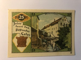 Allemagne Notgeld Possneck 25 Pfennig - Collections