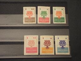 PARAGUAY -  P.A. 1961 RIFUGIATI/ALBERI 6 VALORI - NUOVI(++) - Paraguay