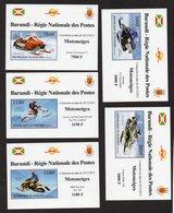 BURUNDI - 5 Feuillets - Moto - Motoneige - Motorräder