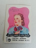 Carte Parfumée Ancienne Simone Illustrée Par Rey Pret Kod - Alte Papiere