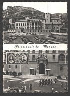 Principauté De Monaco - Le Palais Du Prince - La Relève De La Garde - 2 Vues - 1961 - Palais Princier