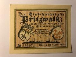 Allemagne Notgeld Pritzwalk 2 Mark - Collections