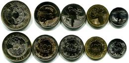 Columbia,  Colombia 2012-2014, Set Of 5 Coins - Colombia