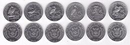 Burundi, Birds, 2014, 6 Coins X 5 Fr - Burundi