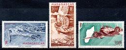 MADAGASCAR - YT PA N° 63 à 64A -  Neufs ** - MNH - Cote: 20,20 € - Luchtpost