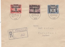 Deutsches Reich General Gouvernement R Brief 1940 - Briefe U. Dokumente