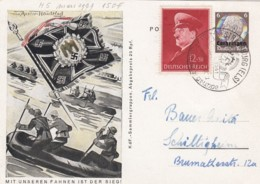 Deutsches Reich Postkarte 1941 Unsere Fahnen Propaganda - Briefe U. Dokumente