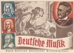 Deutsches Reich Propaganda Postkarte 1938 Deutsche Musik - Briefe U. Dokumente