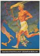 Deutsches Reich Propaganda Postkarte 1936 Olympiade - Briefe U. Dokumente
