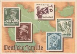 Deutsches Reich Propaganda Postkarte 1937 Deutsche Familie - Briefe U. Dokumente
