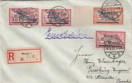 Deutsches Reich R Brief Memel Flugpost 1922 - Memelgebiet