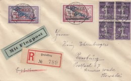 Deutsches Reich R Brief Memel Flugpost 1921 - Memelgebiet