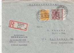 Allierter Besetzung Amerikanische Und Britische Zone R Brief 1948 - Zone Anglo-Américaine