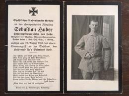 Sterbebild Wk1 Bidprentje Avis Décès Deathcard RIR1 VERMANDOVILLERS Block 3 Grab 8 Aus Loha - 1914-18