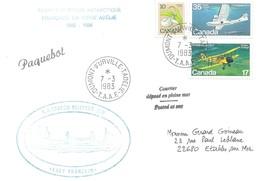 """TAAF - Dumont D'Urville-T.Adélie: Lettre """"Lady Franklin"""" Avec Timbres Canada N°724, 780 Et 630 - 07/03/1983 - Lettres & Documents"""