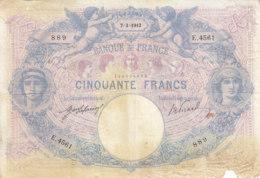 Billet 50 F Bleu Et Rose Du 7-3-1913 FAY 14.26 Alph. E.4561 - 50 F 1889-1927 ''Bleu Et Rose''