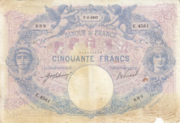 Billet 50 F Bleu Et Rose Du 7-3-1913 FAY 14.26 Alph. E.4561 - 1871-1952 Antichi Franchi Circolanti Nel XX Secolo