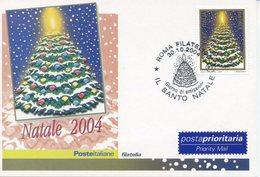 ITALIA - FDC MAXIMUM CARD 2004 - NATALE - ALBERO DI NATALE - ANNULLO SPECIALE - Maximumkarten (MC)