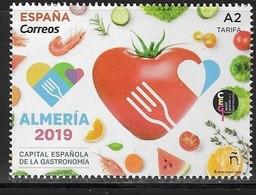 SPAIN, 2019, MNH, ALMERIA GASTRONOMY CAPITAL, SEAFOOD, SHRIMPS, VEGETABLES, FRUIT, 1v - Food