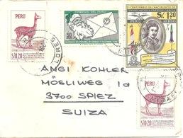 Ausland Brief  Miraflores - Spiez             1965 - Peru