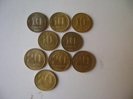 "BRAZIL - 9 COINS ""10 CENTAVOS AND 20 CENTAVOS"" , DIFFERENT DATES , 1945  / 1955 - Brazil"