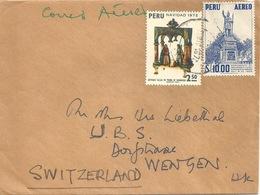 Ausland Brief  Peru - Wengen             1972 - Peru