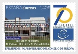 H01 Spain 2019 70th Anniversary Council Of Europe MNH Postfrisch - 1931-Heute: 2. Rep. - ... Juan Carlos I