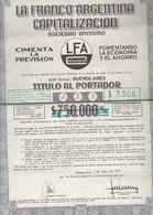 LA FRANCO ARGENTINA SA ACCIONES 750 MIL AUSTRALES AÑO YEAR 1971 ACCIONES ACTIONS - BLEUP - Other