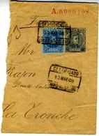 1908 PARTE ENTERO POSTAL PRIVADO SOBRE 25C CADET Hasta Francia    EP442 - Enteros Postales