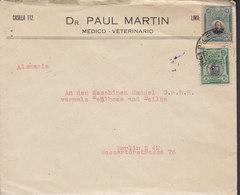 Peru DR. PAUL MARTIN Medico - Veterinario Cover Letra BERLIN Germany Bolognesti & Bolivar Stamps - Peru