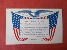 US Flags   Our Country's Call Greetings -ref 3369 - Patriotic