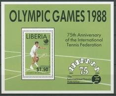 Liberia 1988 Olymp. Sommerspiele Seoul Tennis Block 119 Postfrisch (C27461) - Liberia